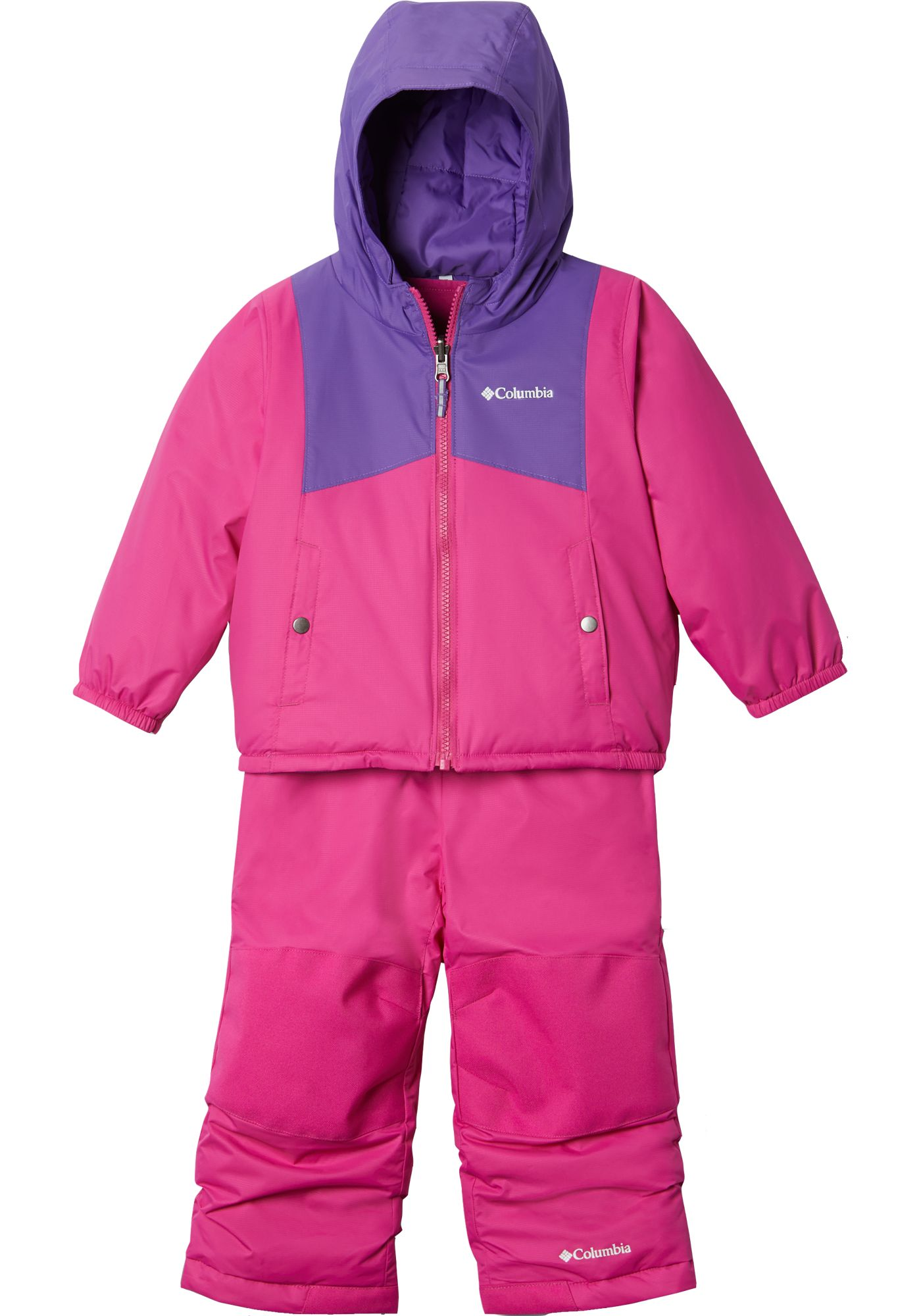 Columbia Infant Reversible Double Flake Jacket and Bib Set