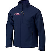 Columbia Men's Atlanta Braves Navy Ascender Full-Zip Softshell Jacket