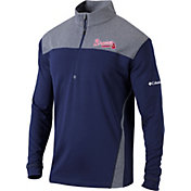 Columbia Men's Atlanta Braves Navy Omni-Wick Standard Half-Zip Shirt