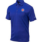 Columbia Men's Chicago Cubs Blue Omni-Wick Printed Dot Polo