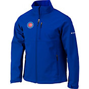 Columbia Men's Chicago Cubs Blue Ascender Full-Zip Softshell Jacket