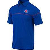 Columbia Men's Chicago Cubs Blue Omni-Wick Breaker Polo