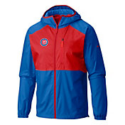 Columbia Men's Chicago Cubs Blue Flash Forward Full-Zip Windbreaker Jacket