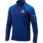 Columbia Men's Chicago Cubs Blue Omni-Wick Panel Half-Zip Shirt