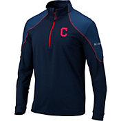 Columbia Men's Cleveland Indians Red Omni-Wick Panel Half-Zip Shirt