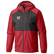 Columbia Men's Washington Nationals Red Flash Forward Full-Zip Windbreaker Jacket