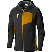 Columbia Men's Pittsburgh Pirates Black Jackson Creek Full-Zip Hoodie