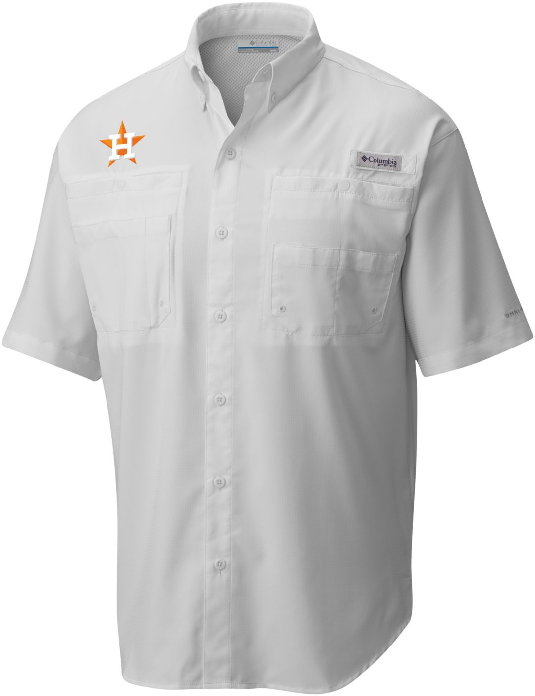 b206cb994b7 Columbia Men's Houston Astros Tamiami Performance Short Sleeve Shirt ...