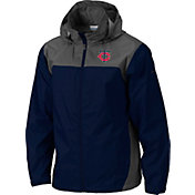 Columbia Men's Minnesota Twins Navy Glennaker Lake Rain Jacket