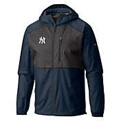 Columbia Men's New York Yankees Blue Flash Forward Full-Zip Windbreaker Jacket