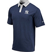 Columbia Men's New York Yankees Blue Omni-Wick Range Polo