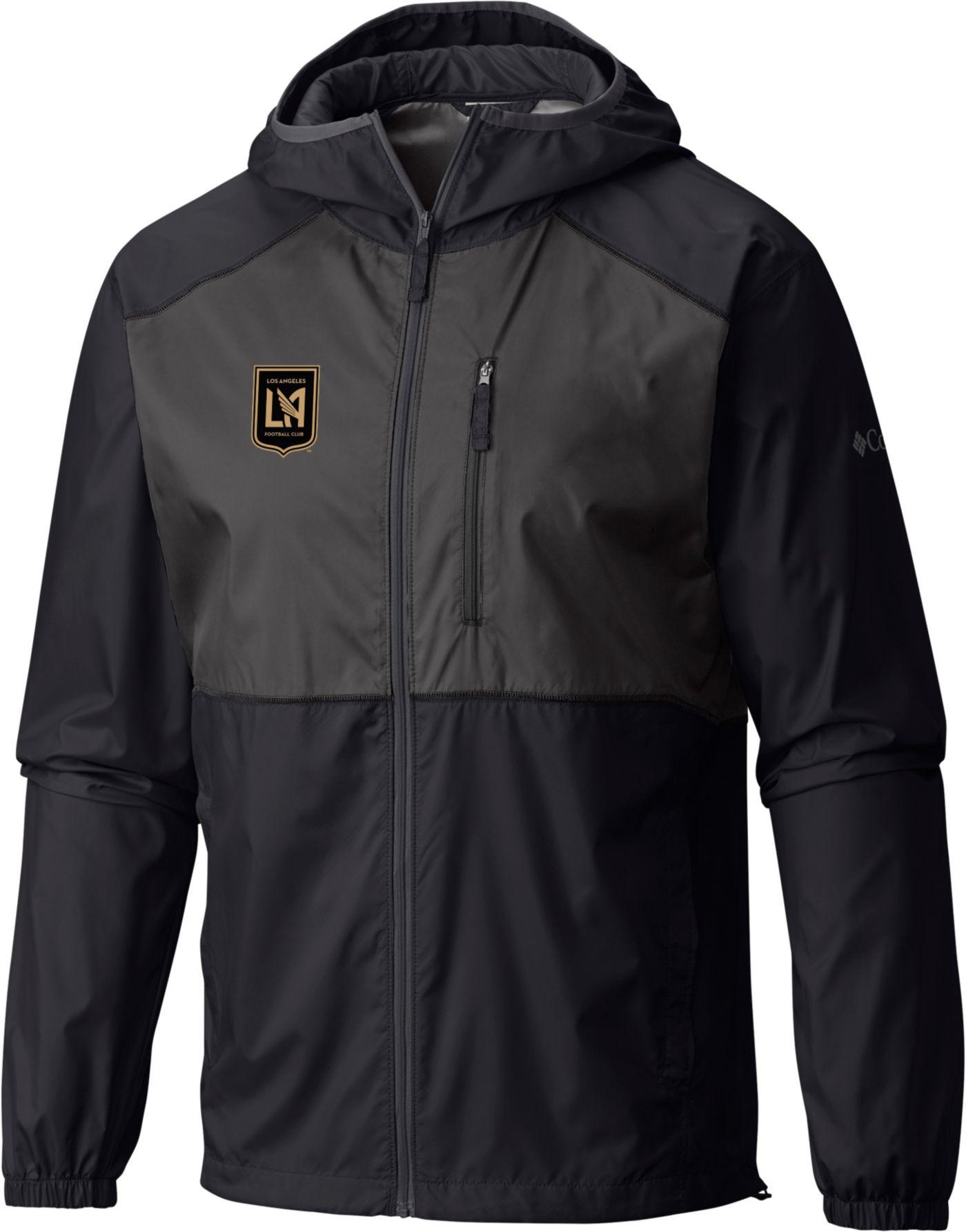 Columbia Men's Los Angeles FC Flash Forward Black Full-Zip Windbreaker Jacket