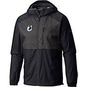 Columbia Men's Minnesota United FC Flash Forward Black Full-Zip Windbreaker Jacket