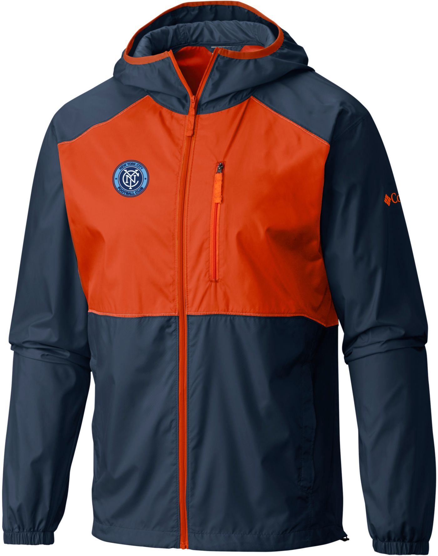 Columbia Men's New York City FC Flash Forward Navy Full-Zip Windbreaker Jacket