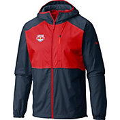 Columbia Men's New York Red Bulls Flash Forward Navy Full-Zip Windbreaker Jacket