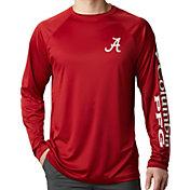 Columbia Men's Alabama Crimson Tide Crimson Terminal Tackle Long Sleeve T-Shirt