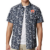 Columbia Men's Auburn Tigers Blue Super Slack Tide Button-Down Shirt