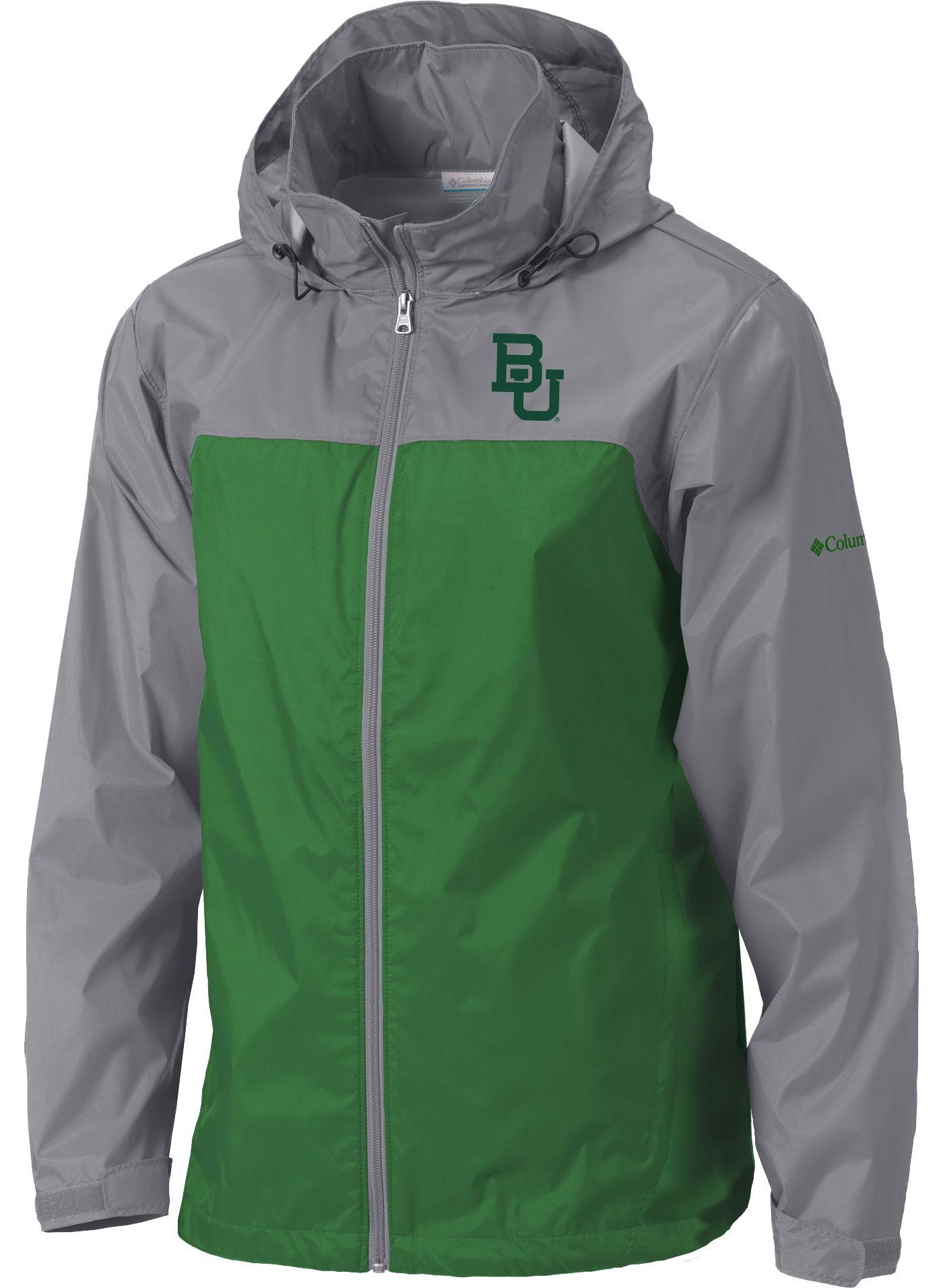 Columbia Men's Baylor Bears Grey/Green Glennaker Lake II Jacket