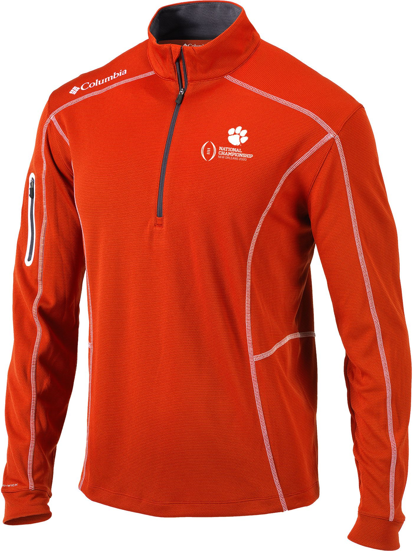 Columbia Men's 2019-20 College Football National Championship Bound Clemson Tigers Orange Shotgun Quarter-Zip Shirt