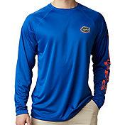 Columbia Men's Florida Gators Blue Terminal Tackle Long Sleeve T-Shirt