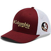 Columbia Men's Florida State Seminoles Garbet PFG Mesh Fitted Hat