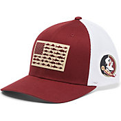 Columbia Men's Florida State Seminoles Garnet PFG Flag Mesh Fitted Hat