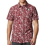 Columbia Men's Florida State Seminoles Garnet Super Slack Tide Button-Down Shirt