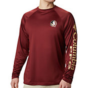 Columbia Men's Florida State Seminoles Garnet Terminal Tackle Long Sleeve T-Shirt