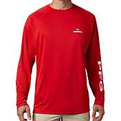 Columbia Men's Georgia Bulldogs Red Terminal Tackle Long Sleeve T-Shirt