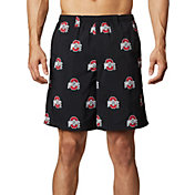 Columbia Men's Ohio State Buckeyes Backcast II Printed Performance Black Shorts