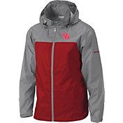 Columbia Men's Houston Cougars Grey/Red Glennaker Lake II Jacket