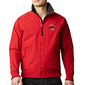 Columbia Men's Ohio State Buckeyes Scarlet Falmouth Full-Zip Jacket