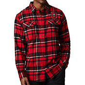 Columbia Men's Ohio State Buckeyes Gray Plaid Flare Gun Flannel Long Sleeve Shirt