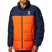 Columbia Men's Illinois Fighting Illini Orange/Blue Pike Lake Jacket