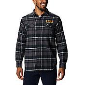 Columbia Men's LSU Tigers Gold Plaid Flare Gun Flannel Long Sleeve Shirt