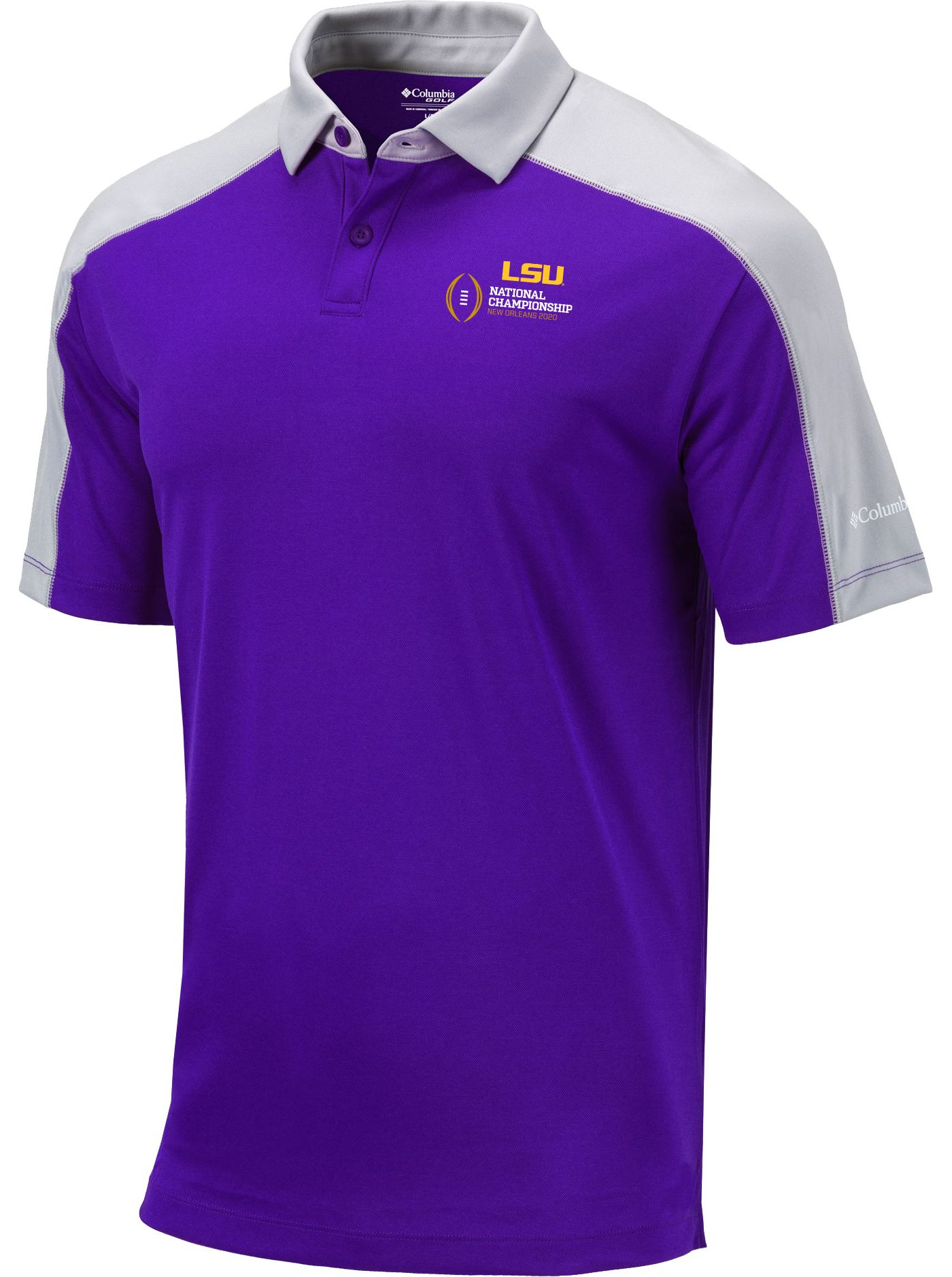 Columbia Men's 2019-20 College Football National Championship Bound LSU Tigers Purple Bracket Performance Polo