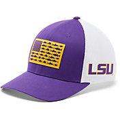Columbia Men's LSU Tigers Purple PFG Flag Mesh Fitted Hat