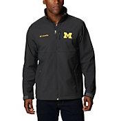 Columbia Men's Michigan Wolverines Grey Flanker Full-Zip Fleece Jacketv