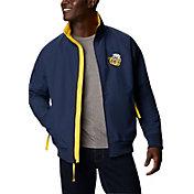 Columbia Men's Michigan Wolverines Blue Falmouth Full-Zip Jacket