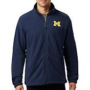 Columbia Men's Michigan Wolverines Blue Flanker Full-Zip Fleece Jacket