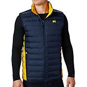 Columbia Men's Michigan Wolverines Blue Lake 22 Reversible Vest