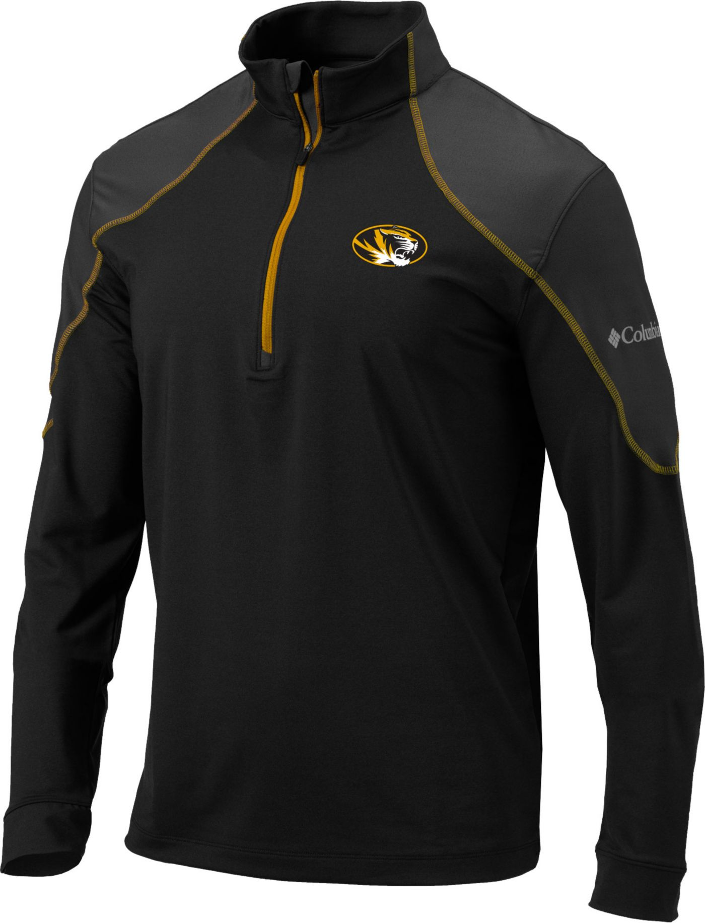 Columbia Men's Missouri Tigers Omni-Wick Panel Quarter-Zip Black Shirt