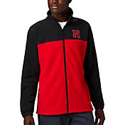 Columbia Men's Nebraska Cornhuskers Black Flanker Full-Zip Fleece Jacket
