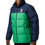 Columbia Men's Notre Dame Fighting Irish Green/Navy Pike Lake Jacket
