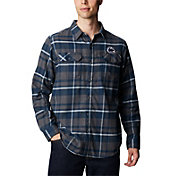 Columbia Men's Penn State Nittany Lions Plaid Flare Gun Flannel Long Sleeve White Shirt