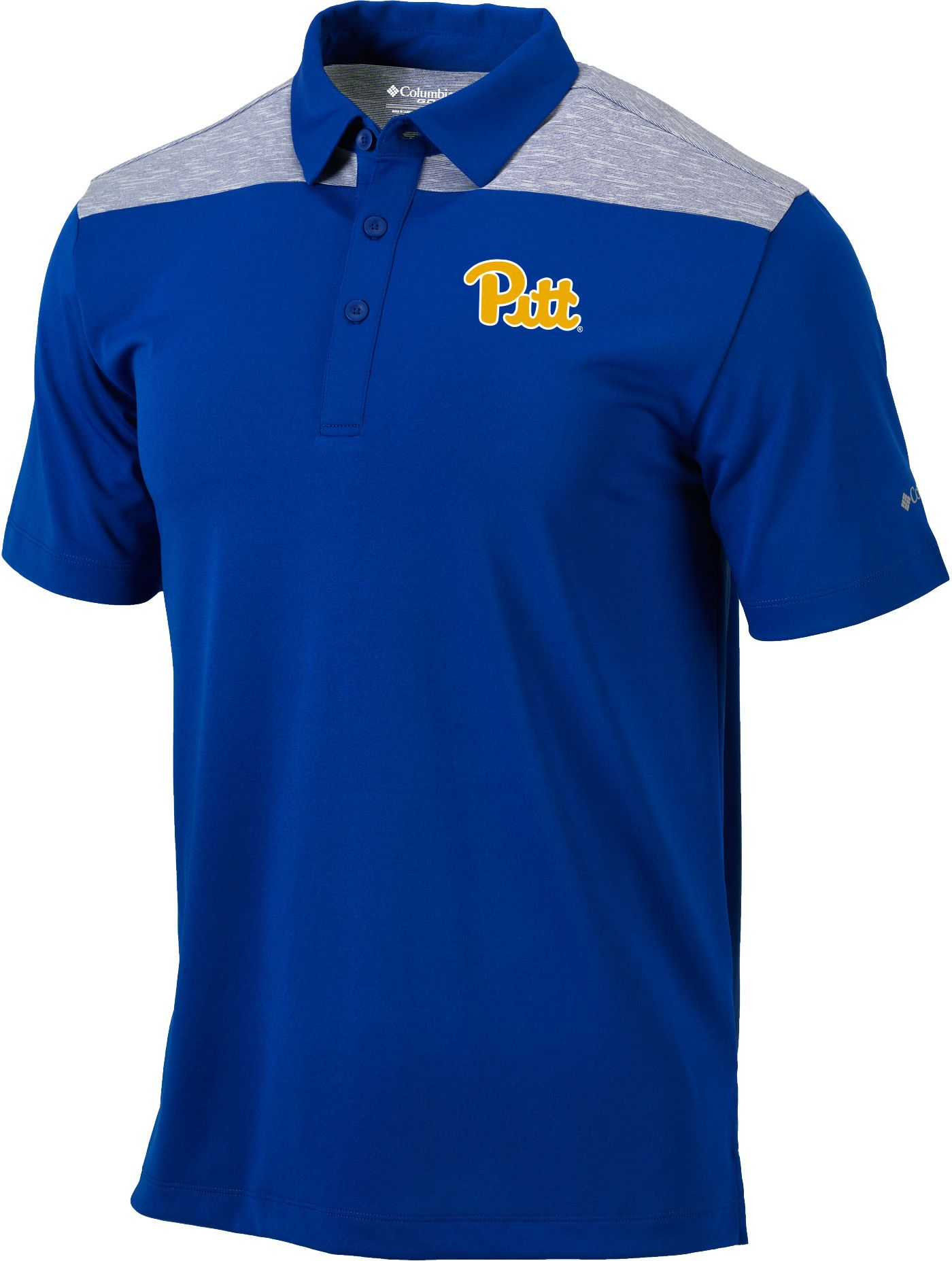 Columbia Men's Pitt Panthers Blue Utility Performance Polo