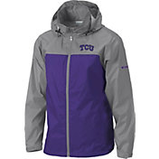 Columbia Men's TCU Horned Frogs Grey/Purple Glennaker Lake II Jacket