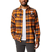 Columbia Men's Tennessee Volunteers Plaid Flare Gun Flannel Long Sleeve White Shirt