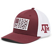 Columbia Men's Texas A&M Aggies Maroon PFG Flag Mesh Fitted Hat