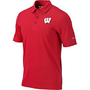 Columbia Men's Wisconsin Badgers Red One Swing Performance Polo